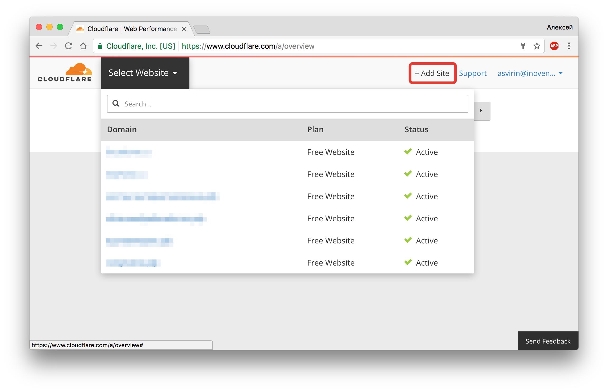 установка бесплатного ssl-сертификата cloudflare